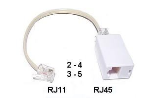 Adaptateur Rj11 Rj45 Darty